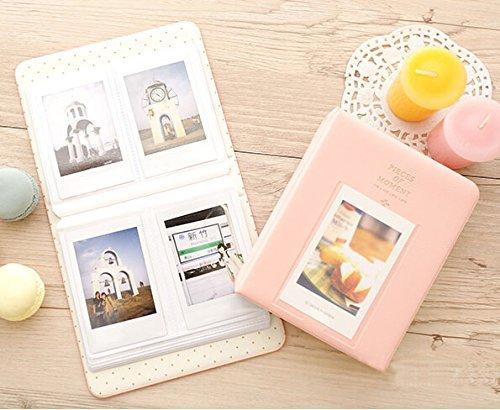 pemm + 6Mini Album Fall Aufbewahrungsbox für Polaroid Foto Fujifilm Instax Film Größe mit 64Taschen (Pink) (33 Album-speicher)