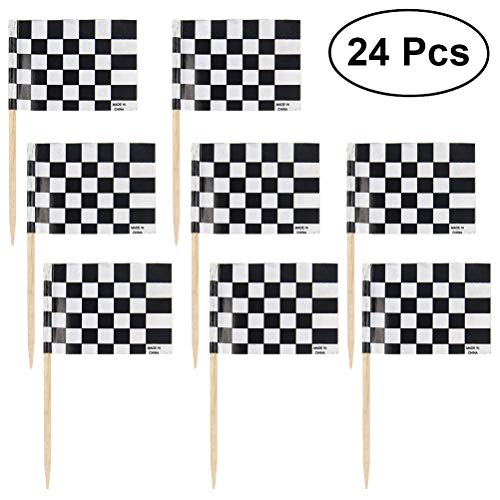 Checkered Racing Flag Party Cupcake Picks Toothpick Flag Dinner Flags Cake Toppers Dekorationen