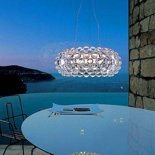 18 Licht-kristall-kronleuchter (VINGO® 12W Acryl Kronleuchter LED Modern Licht wechselbar Hängeleuchte Leuchter)