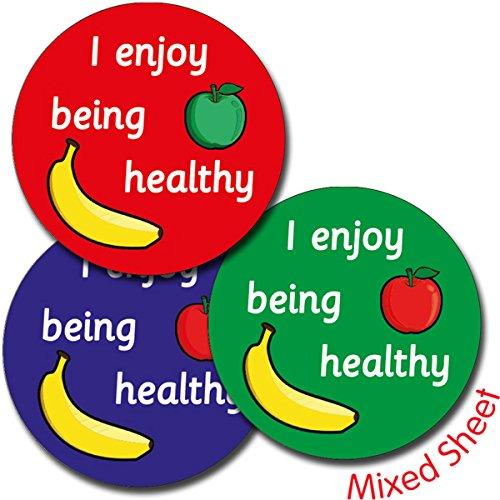 Genießen Sie Gesunde (Primary Teaching Services Ltd A291 Blatt 35 I Genießen sie die gesunde 37 mm-Circular Aufkleber)