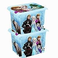 2 x Caja de juguetes Caja juegos Caja caja de la manera Congelado 20 L