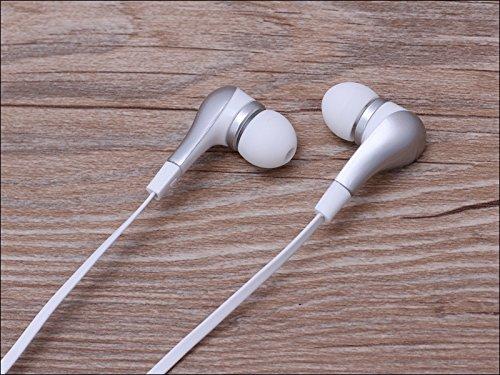 Suppression du bruit écouteurs intra-auriculaires sport Argent Casque écouteurs Mains libres écouteurs intra-auriculaires 3,5mm W/appel mains libres Mic. Compatible avec Apple iPhone 6S