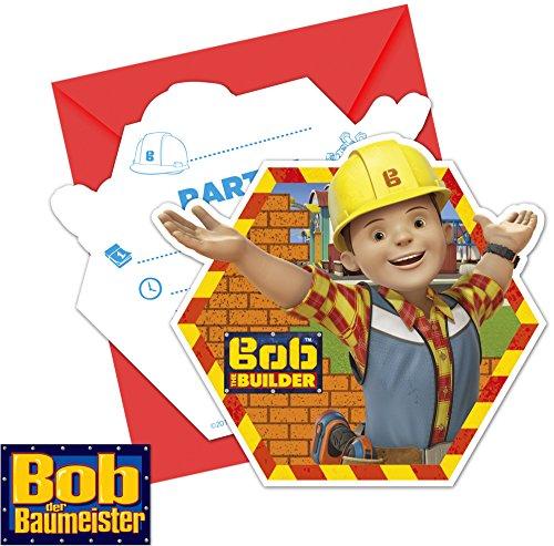 6-Einladungen-BOB-DER-BAUMEISTER--plus-6-Umschlge-Kindergeburtstag--Einladungskarten-Bauarbeiter-Kinder-lieben-eine-Baustellen-Mottoparty