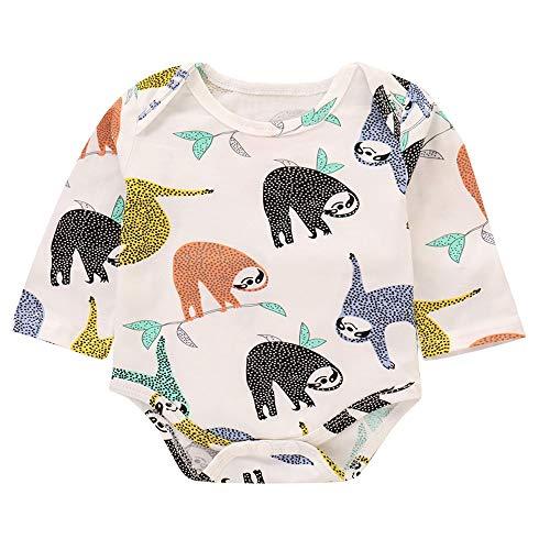 Filles Vêtements Ensemble, Enfant bébé garçon Fille Dessin animé Arbre  Paresseux Imprimer Barboteuse Nouveau- 290bb2b2e7e