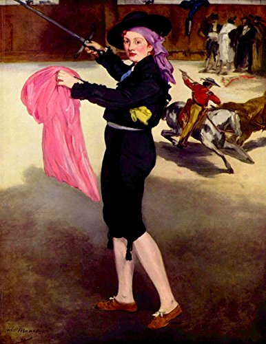 Das Museum Outlet–Mlle. Augustiner in das Kostüm of a matador by Manet–Poster (61x ()