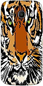 Snoogg sketch of white tiger vector illustration Hard Back Case Cover Shield For Samsung Galaxy Ace 3