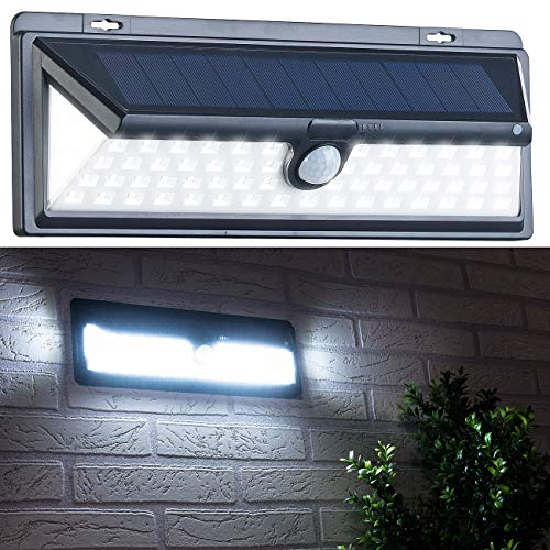 Luminea LED-Solar-Wandlampe: Solar-LED-Wandleuchte, Bewegungs-Sensor & Akku, 800 Lumen, 13,2 Watt (Hauswandlampen) (Outdoor Wandleuchte-bewegungs-sensor)