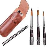 Juego de pinceles para pintar, travel brush set(#4 $8 #12)