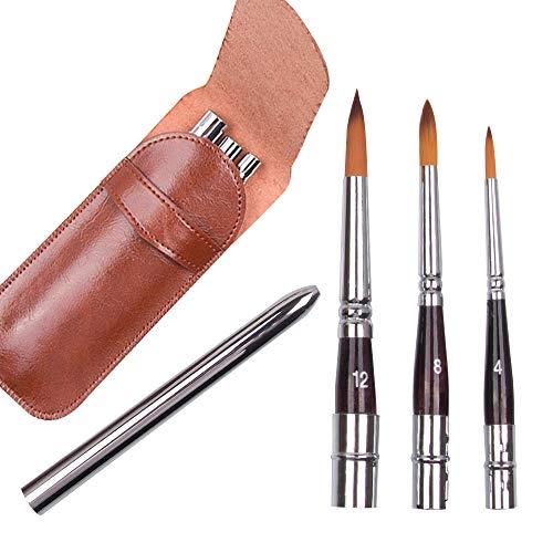 Juego de pinceles para pintar, travel brush set(#4 $8 #12 ...