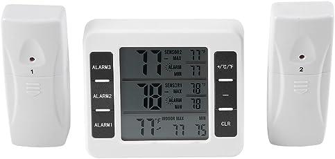 Kühlschrank Thermometer Wireless LCD Digital Freezer Thermometer mit akustischen Alarm Zurück Magnetische für Home/Küche / Büro