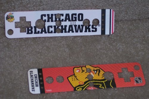 Chicago Blackhawks Logo Nintendo Wii U Remote NHL Dual Image Holographic Skin Covers - Set of 2 by Mad Catz