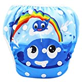 Allegorly Schwimmwindeln für Jungen Mädchen Wiederverwendbare Einstellbare Bademode Baby Schwimmhose Badewindelhose Badehose 0-3 Jahre