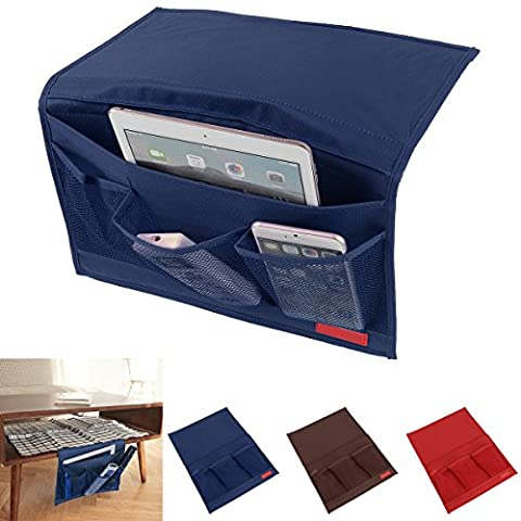 Bedside Caddy Storage Organizer Hanging Bag,Oenbopo Chair Desk Sofa Slipcovers TV Remote Controller Holder Organizer Bag Table Cabinet Magzine Book Caddy