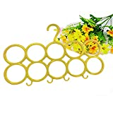 #8: Berry Multifunction Unbreakable Plastic Scarf 10 Loop Plastic Scarf Holder Hanger (Yellow) (Set of 1)