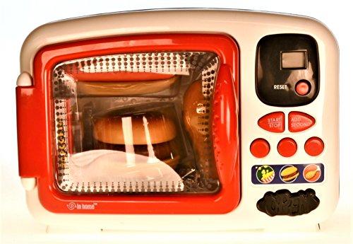 Kitchen Series Microwave Oven mit Zubehör - Mikrowelle Kinderspielzeug - Mikrowelle mit Licht und Sound - Küchenspielzeug