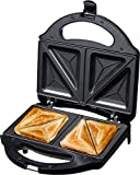 Wonderchef Prato 700-Watt Sandwich Maker (Black)