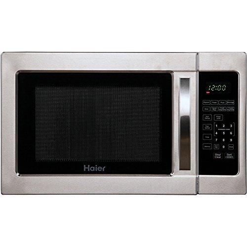 Haier Hmc1035sess 1.0 Cu. Ft. 1000 Watt Microwave Oven - Silver Cabinet