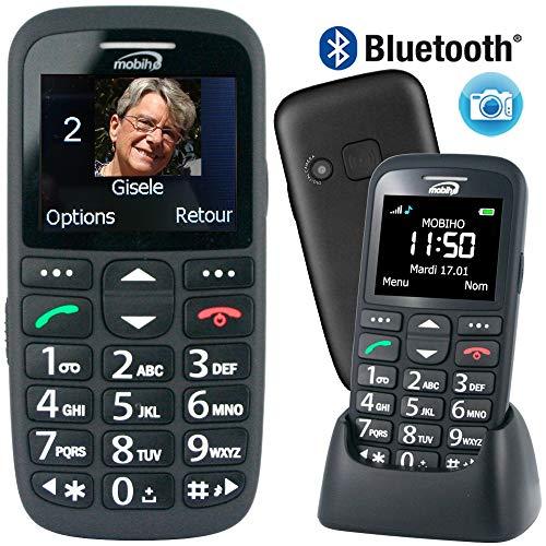 Mobiho-Essentiel le CLASSIC INITIAL NOIR - Téléphone complet senior. Le seul appareil réunissant toutes les solutions : audition, vision, handicap préhension, dextérité, fausses manipulations correspond parfaitement à ce que peut faire l'utilisateur. Vous choisirez ce qu'il est possible de laisser. DEBLOQUE TOUT OPERATEUR