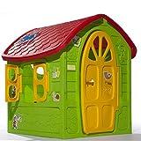 TikTakToo Riesiges SPIELHAUS für Kinder Kinderhaus Bunt Gartenhaus Kinderspielhaus