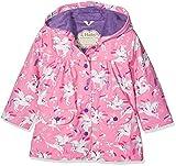 Hatley Printed Raincoats, Chaqueta Impermeable Para Niñas, Rosa (Winged Unicorn), 8 años