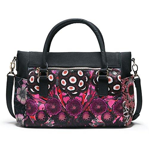 Desigual Handtasche Schultertasche Tasche Bols Bora Bora Loverty 18SAXFA1 Mehrfarbig