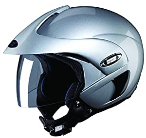 Studds Marshall SUS_MOFH_SGRYXL Open Face Helmet (Silver and Grey, XL)