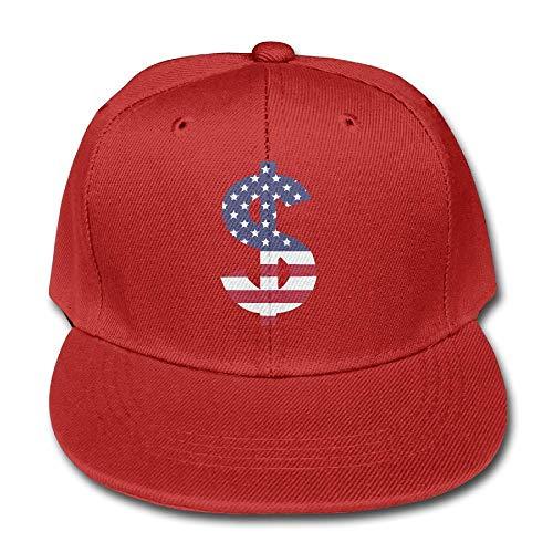 Kid's Dollar Sign US Flag Cotton Lightweight Breathable Baseball Cap Hat Snapback Trucker Hat Basecap Snapback Outdoor Baseball Kappe (Stretcher Dollar)