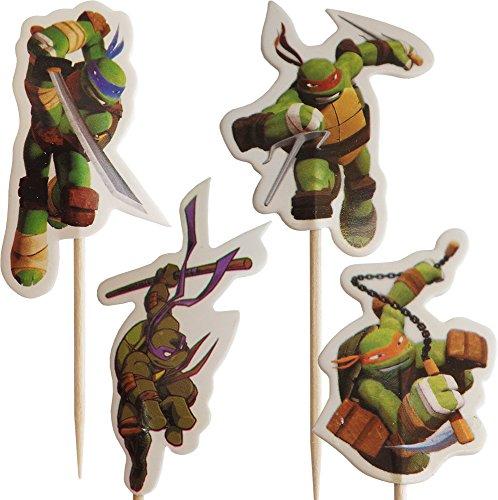 Ninja Turtles-Gang-Kuchen-Toppers (Packung mit 24)