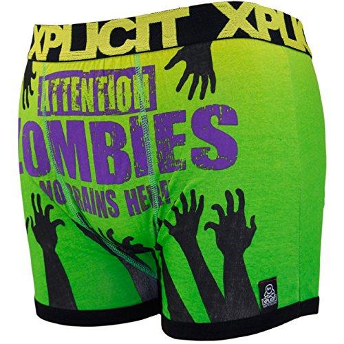 Boxer da uomo con frasi divertenti Zombie-Yellow