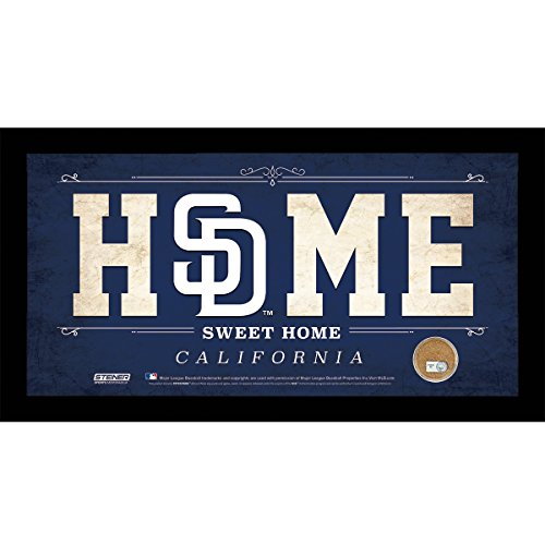mlb-san-diego-padres-home-sweet-home-sign-with-game-used-dirt-from-petco-park-6-x-12-blue