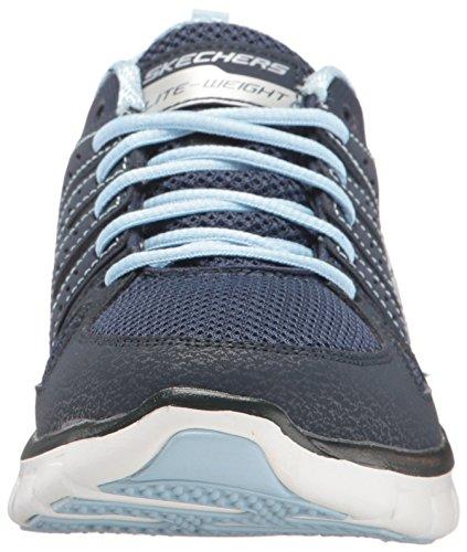 Skechers - Synergy-look Book, Scarpe da corsa Donna Blu (Blue (Nvbl))