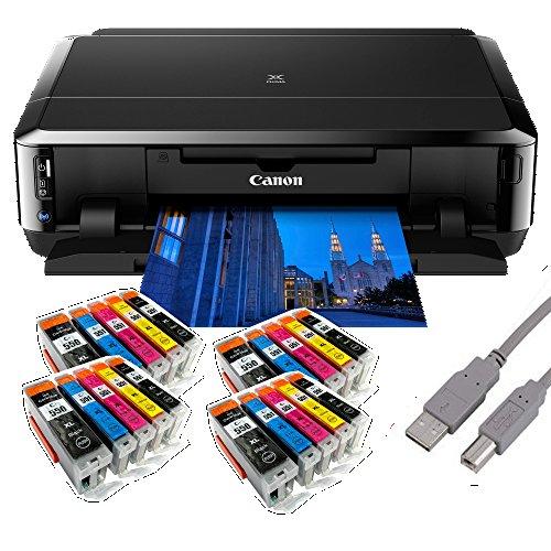 Canon Pixma iP7250 Tintenstrahldrucker mit WLAN Auto Duplex Druck (9600x2400 dpi, USB) + USB Kabel & 20 Youprint Tintenpatronen DRUCKER OHNE SCANNER OHNE KOPIERER Originalpatronen nicht enthalten -