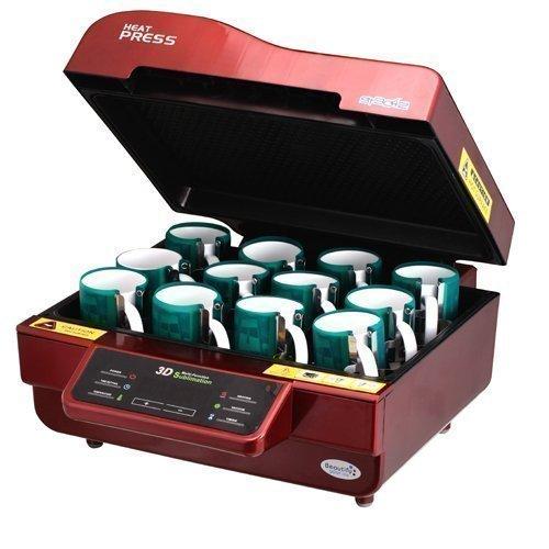 3D Sublimation Staubsauger Hitze Presse wärmetransfer zu einem Telefon, Teller Becher UK Bestand (15 X15 Hitze-presse)