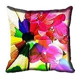 meSleep Multicolor Kissen Abdeckung Floral Digital Bedruckt Schlafzimmer Sofa Couch Werfen 12