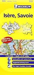 Michelin Map France: Isre, Savoie 333