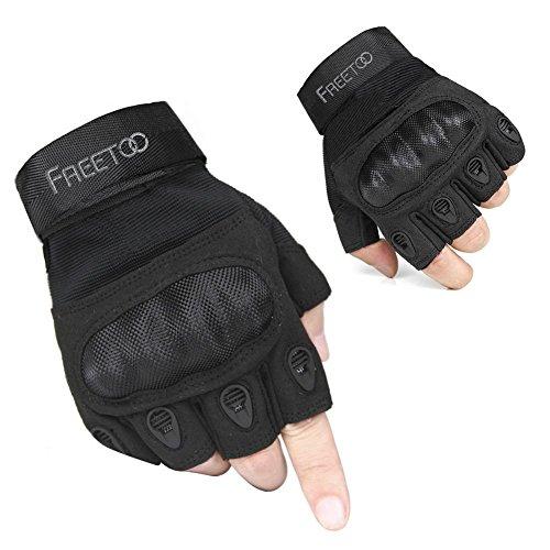 [Sport Handschuhe] FREETOO taktische Handschuhe Motorrad Handschuhe Herren Vollfinger Handschuhe mit gepolstertem Rückenseite geeignet für Airsoft Militär Paintball Motorrad Fahrrad und andere Outdoor Aktivitäten (Fahrrad Größentabelle)