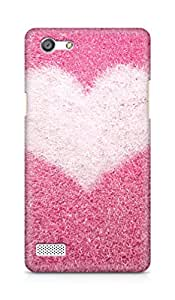 Amez designer printed 3d premium high quality back case cover for OPPO Neo 7 4G (pink grass white heart)