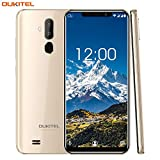 OUKITEL C12 Pro 4G Téléphone Portable débloqué Pas Cher, 6.18 Pouces HD Display,Android 8.1, Double Caméras 8MP, Dual SIM, 3300mAh, Face ID, MT6739 1.5GHz Quad Core, 2Go RAM 16Go ROM Smartphone-d'or