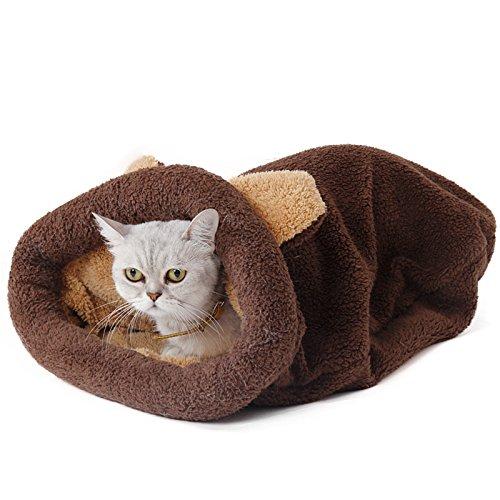 Pawz road sacco a pelo del gatto self-warming kitty sacco 20 at sleeping bag self-warming kitty sack 20 ( color : brown )