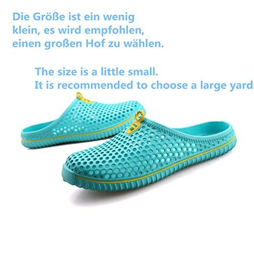 Breathable Hausschuhe Clogs Pantoletten Sandalen Slippers AntiRutsch Gartenschuhe Badeschuhe Strandschuhe Sommer Schuhe Damen Herren Blau