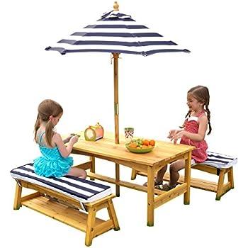 Beliebt TecTake Kindersitzgruppe für bis zu 4 Kinder inkl. Sonnenschirm 2 BF53