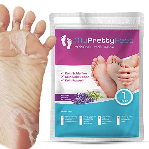 My Pretty Feet | Das Original | (1 Paar) Fußmaske zur Hornhautenfernung | Anti Hornhaut Socken & Fuß Peeling