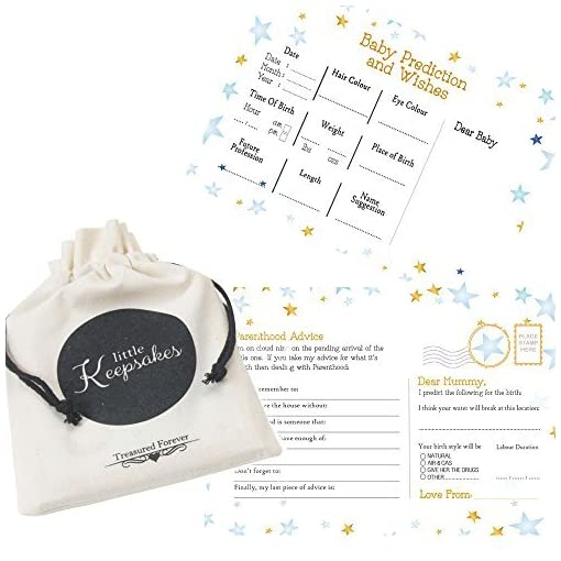 Twinkle-Little-Star-Baby-shower-Baby-Predictions-Wishes-Parenthood-Advice-Cards-Blue-Boy-Cards-KEEPSAKE-POUCH-16-CARDS