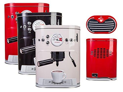 Kaffeedose »Espressomaschine« ca.22·17cm Metall Schwarz