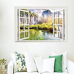 Idea Regalo - Finestre Finte Paesaggio Adesivi Murali Salotto Camera Da Letto Ristorante Decorazione Di Fondo