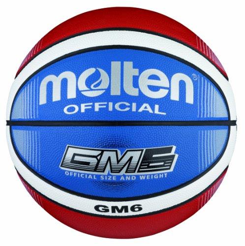 Molten Basketball BGMX6-C, Rot/Weiß/Blau, Gr. 6