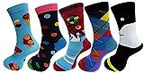 #6: RC. ROYAL CLASS Full Length soft cotton designer socks for kids Boys & Girls (pack of 5 pairs)