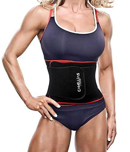 Sport Belt,Camellias Cinturón Deportivo Waist Trainer Faja Transpirable Posnatal Adelgazamiento para Mujer,UK-DT8010-Red-(S/M)