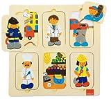 Goula Puzzle profesiones, piezas de madera (Diset 53070)