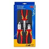 Knipex 00 20 12 – Elektro-Paket mit drei VDE-geprüften Zangen